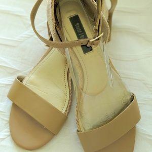 White House Black Market Sandals 8.5 Beige